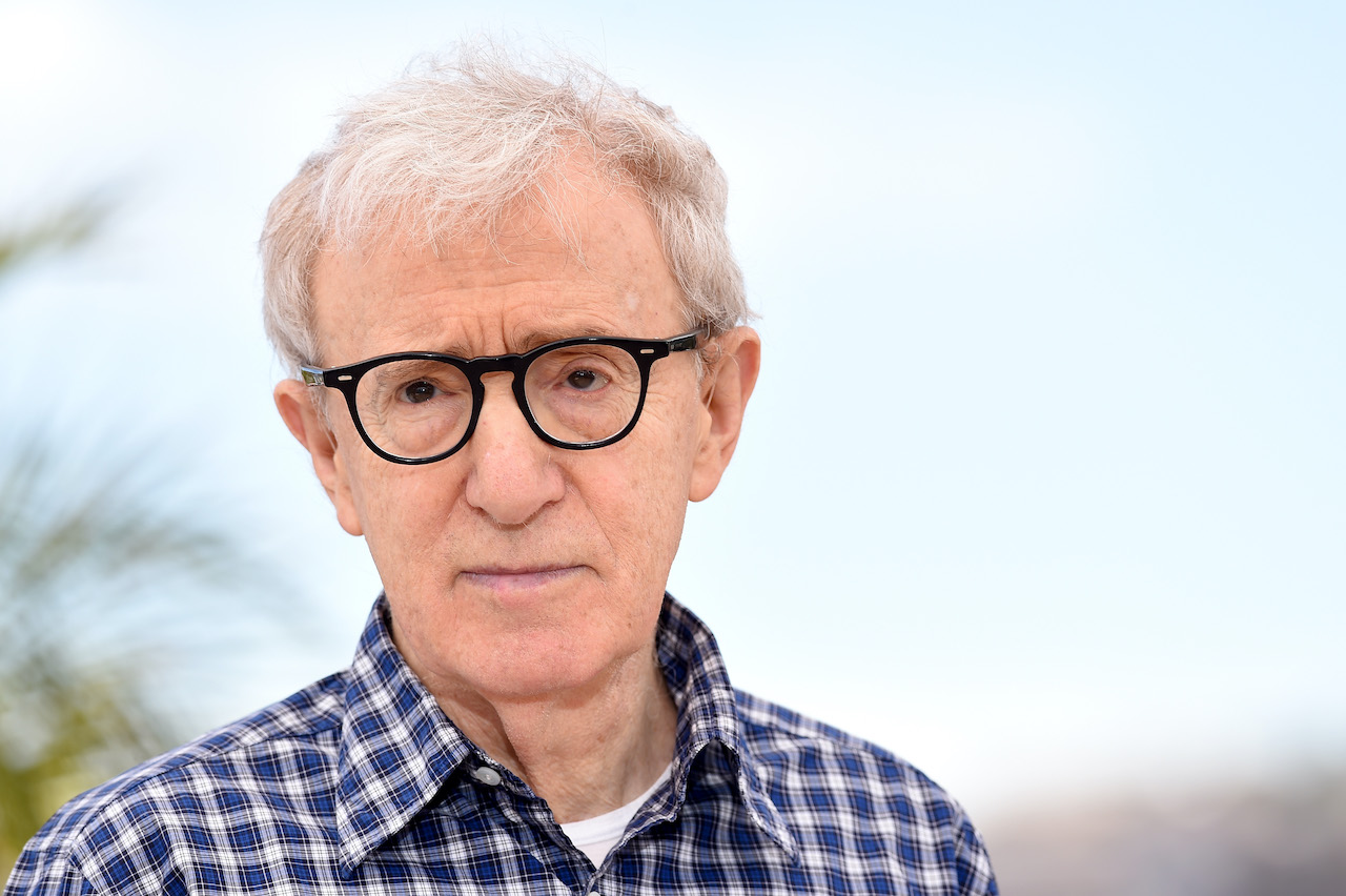 "Woody Allen attends a photocall for ""Irrational Man"" during the 68th annual Cannes Film Festival"