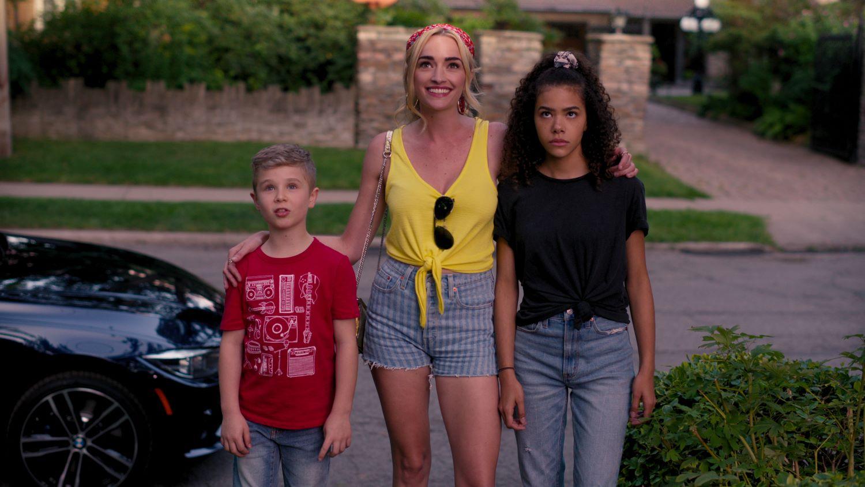 'Ginny & Georgia' (L-R) Diesel La Torraca as Austin, Brianne Howey as Georgia, and Antonia Gentry as Ginny