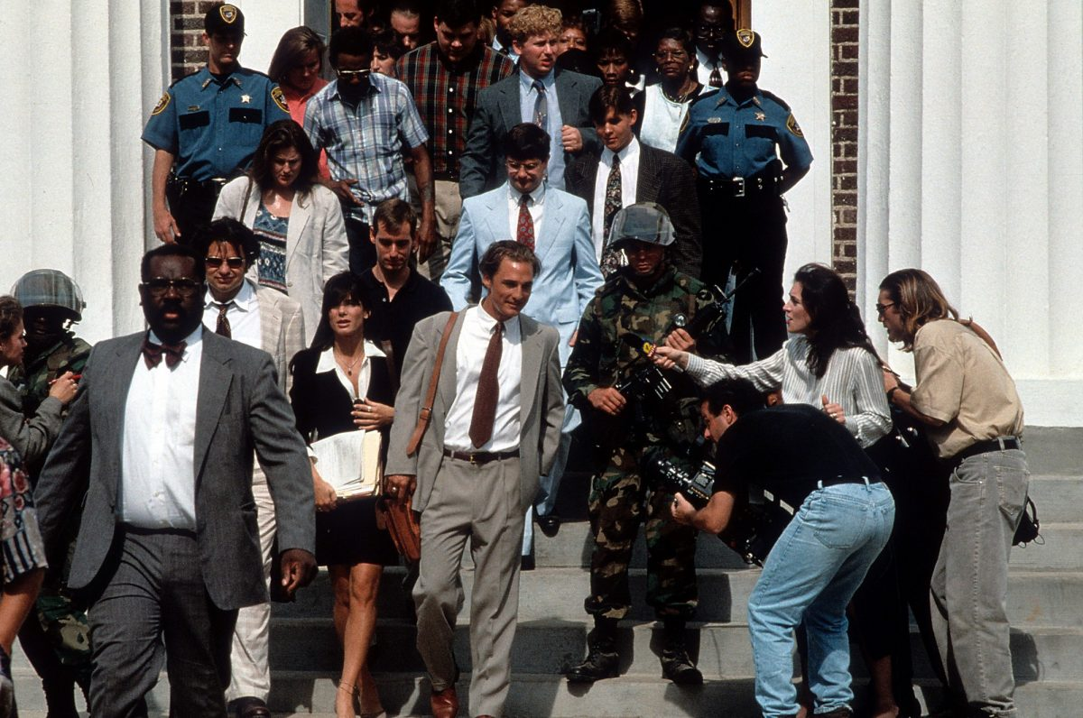 A Time to Kill cast exits the courthouse