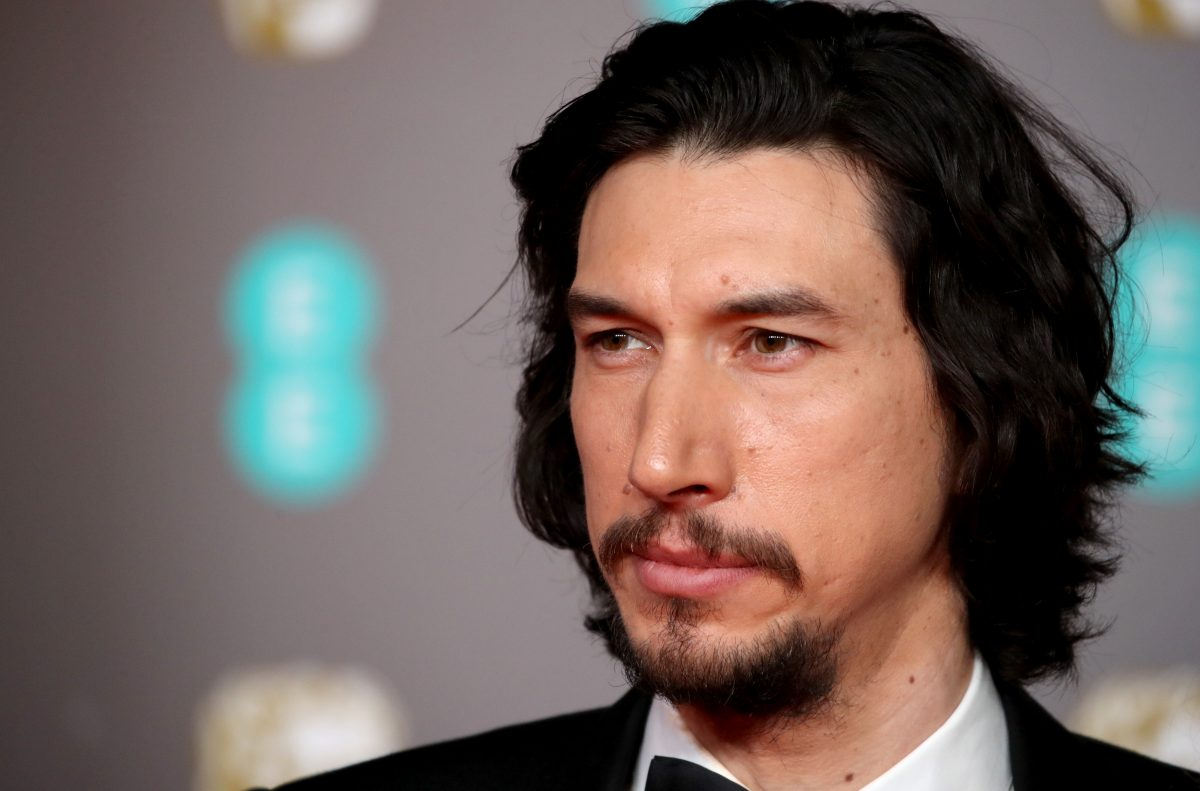 A close-up of Adam Driver on the red carpet.