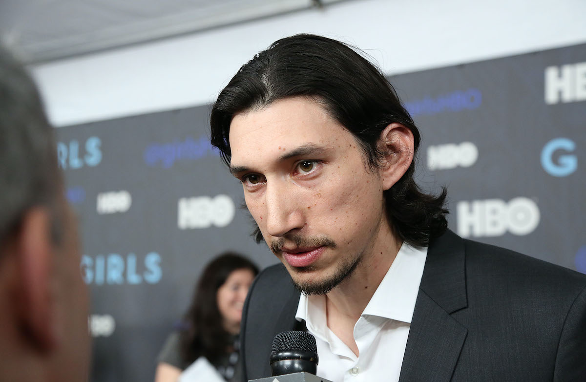 Adam Driver at the premiere of 'Girls' Season 2