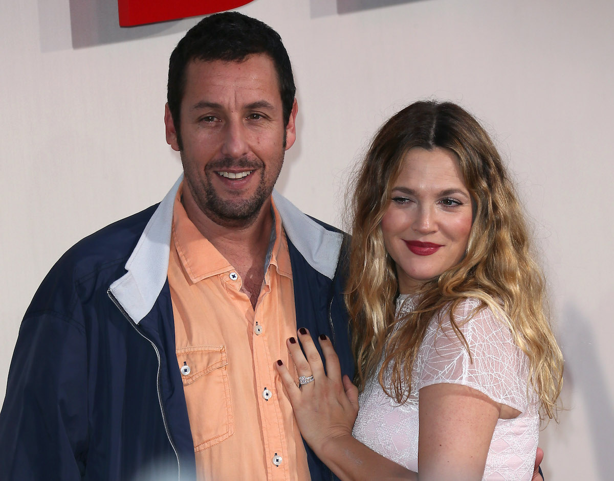 Adam Sandler and Drew Barrymore at the 'Blended' premiere