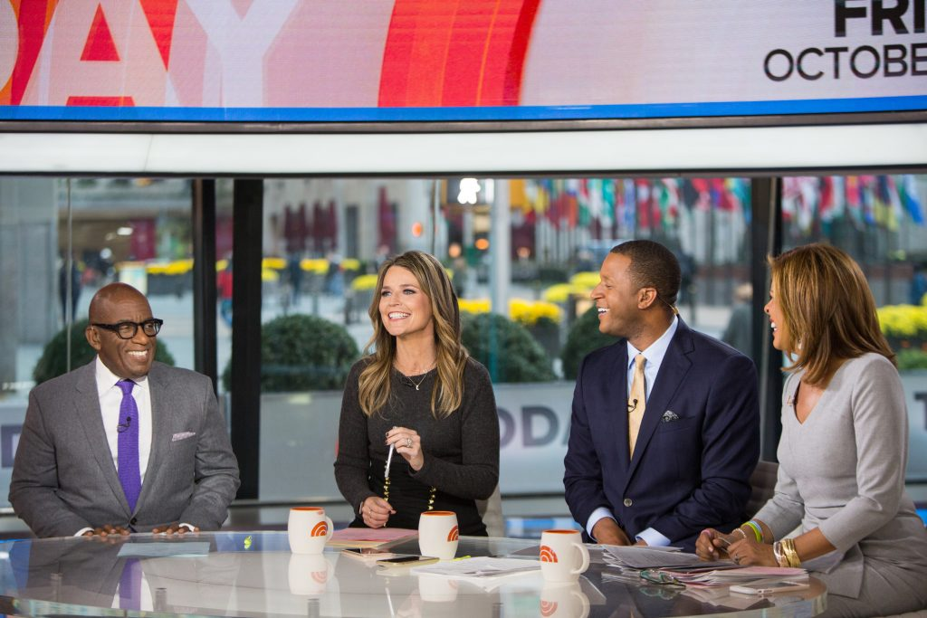 Al Roker, Savannah Guthrie, Craig Melvin and Hoda Kotb of the 'Today Show'