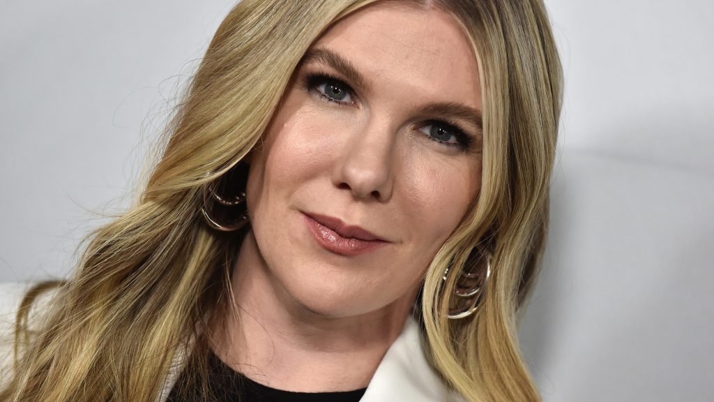 Actor Lily Rabe on the Red Carpet event  celebrating 100 episodes of FX's 'American Horror Story' in October 2019