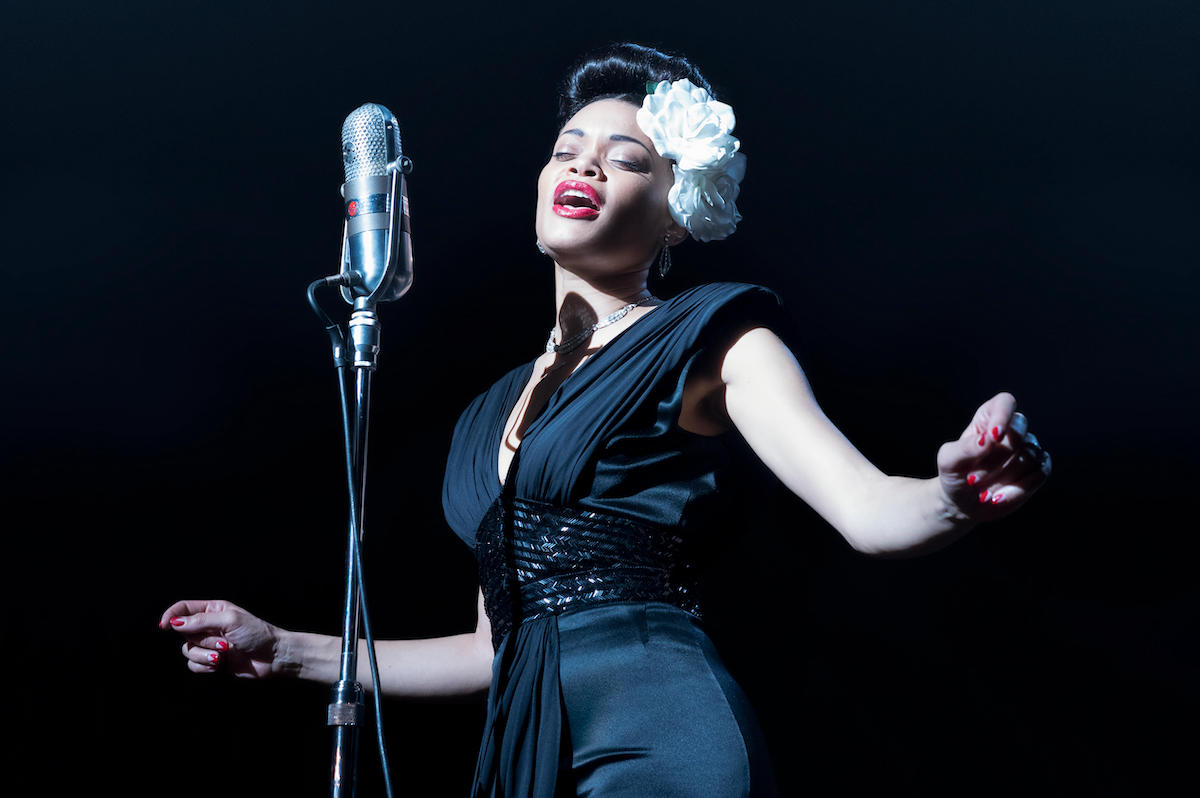 Andra Day sings a song as Billie Holiday in Hulu's 'The United States vs. Billie Holiday'