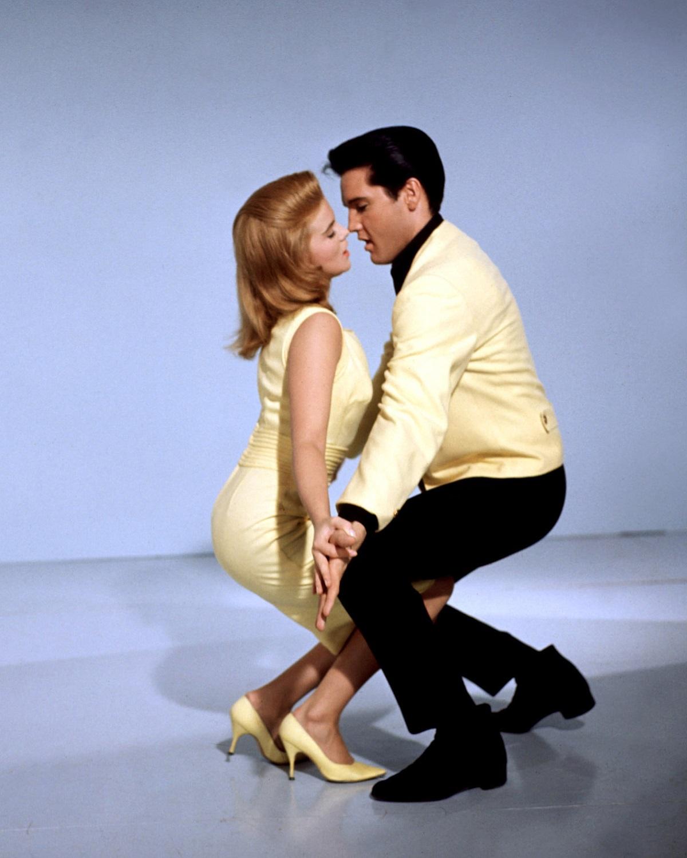 Ann-Margret and Elvis Presley dancing in a promotional still for 'Viva Las Vegas'
