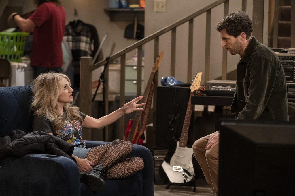 Annaleigh Ashford as Gina and Thomas Middleditch as Drew on 'B Positive' |  Michael Yarish/CBS via Getty Images