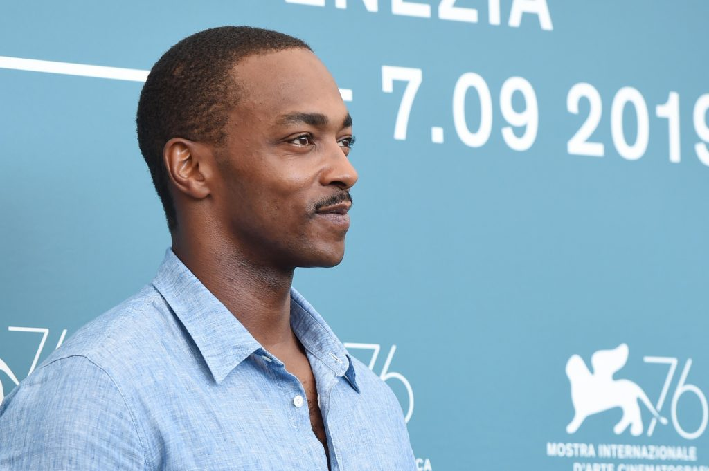 Anthony Mackie during the 'Seberg' photocall at the Venice Film Festival in 2019