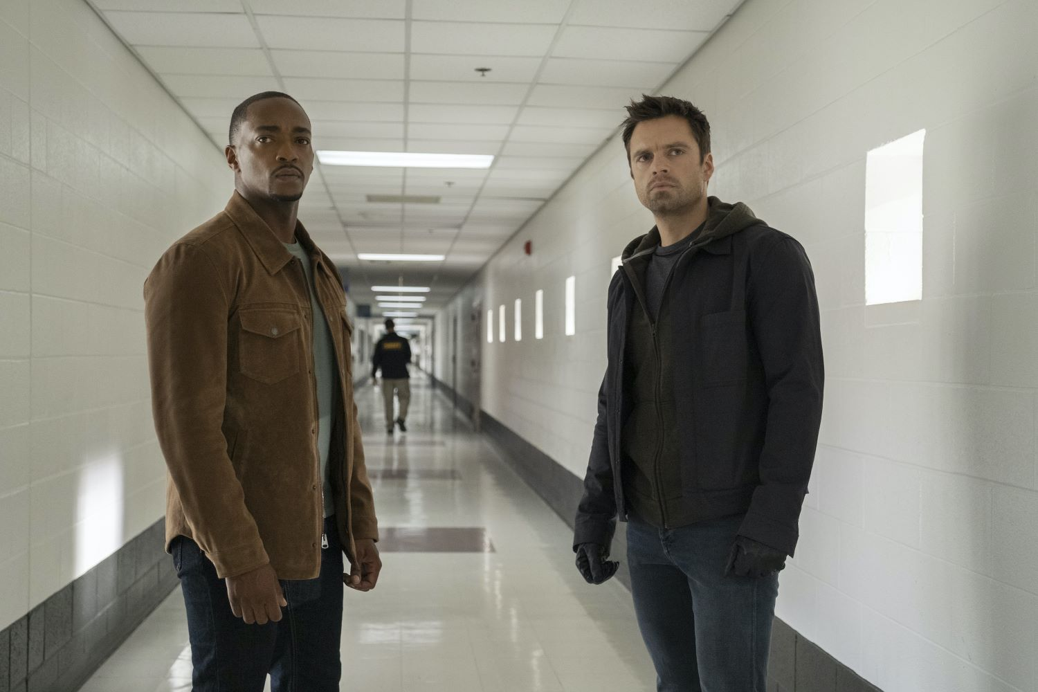 Anthony Mackie and Sebastian Stan in 'The Falcon and the Winter Soldier'