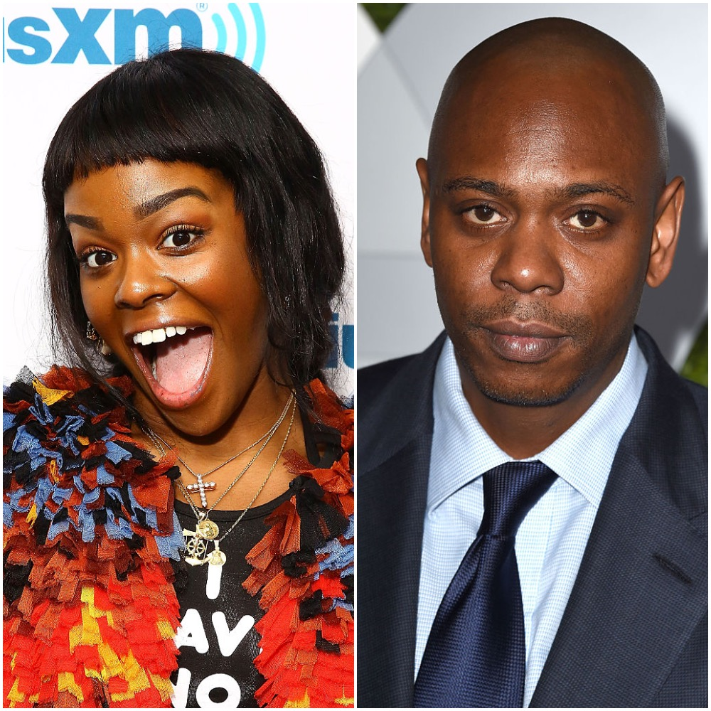 Azealia Banks and Dave Chappelle in a photo collage