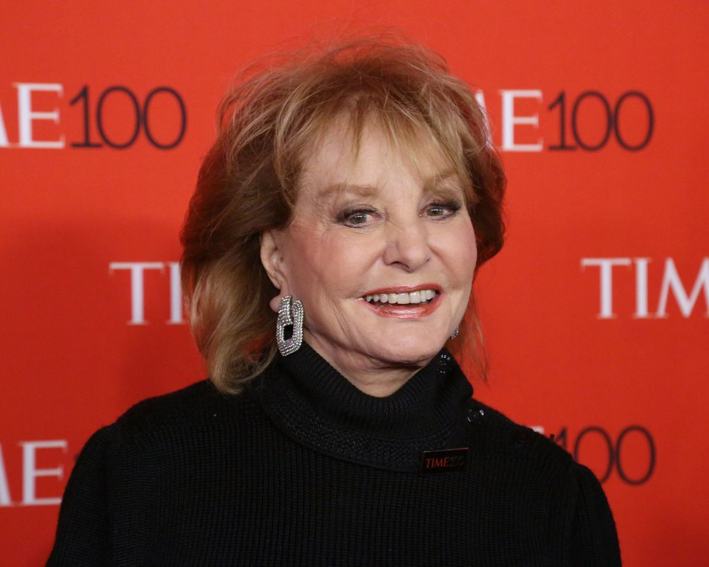 TV personality Barbara Walters attends the 2015 Time 100 Gala at Frederick P. Rose Hall, Jazz at Lincoln Center