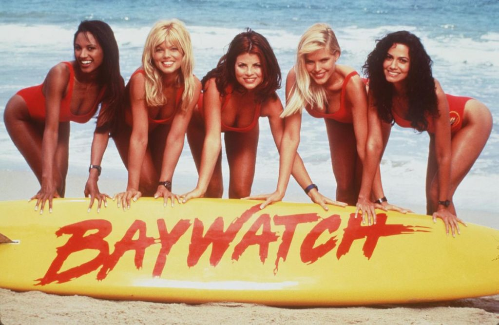 From L-R: Traci Bingham, Donna D'Errico, Yasmine Bleeth, Gena Lee Nolin And Nancy Valen