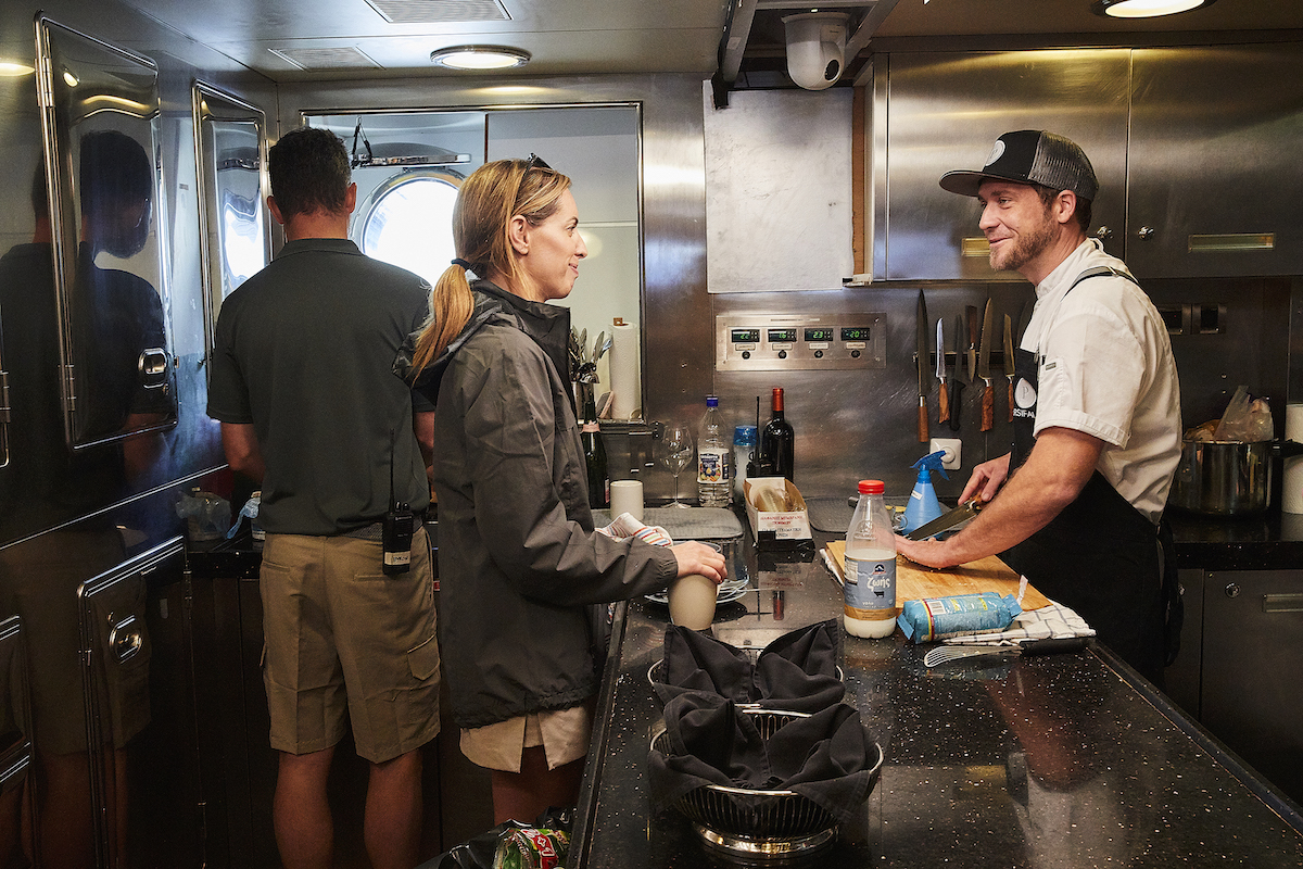 Jenna MacGillivray, Adam Glick get cozy in the galley on 'Below Deck Sailing Yacht'