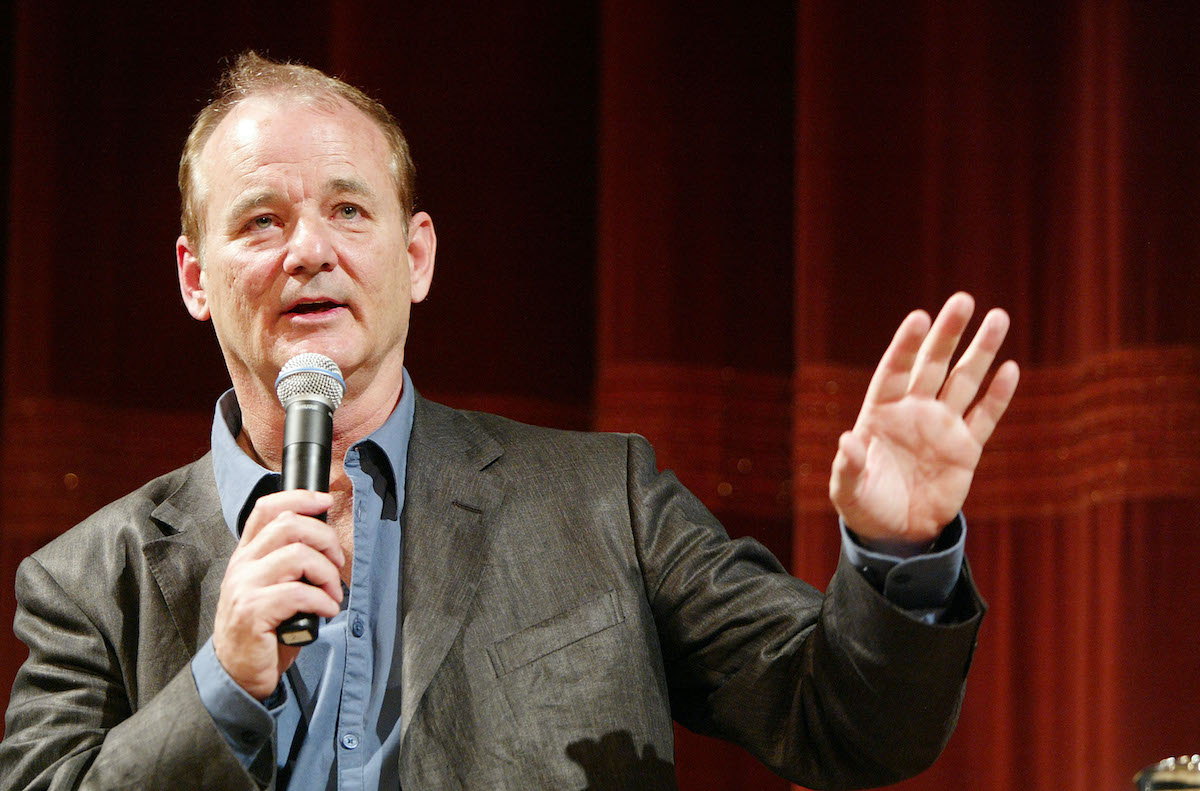 Bill Murray during a talk with film critic Elvis Mitchell