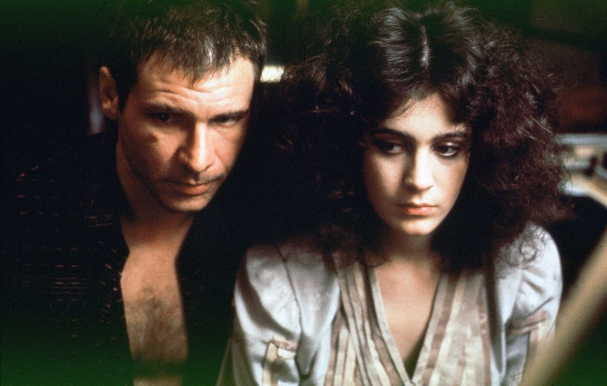 Blade Runner star Harrison Ford sitting next to Sean Young