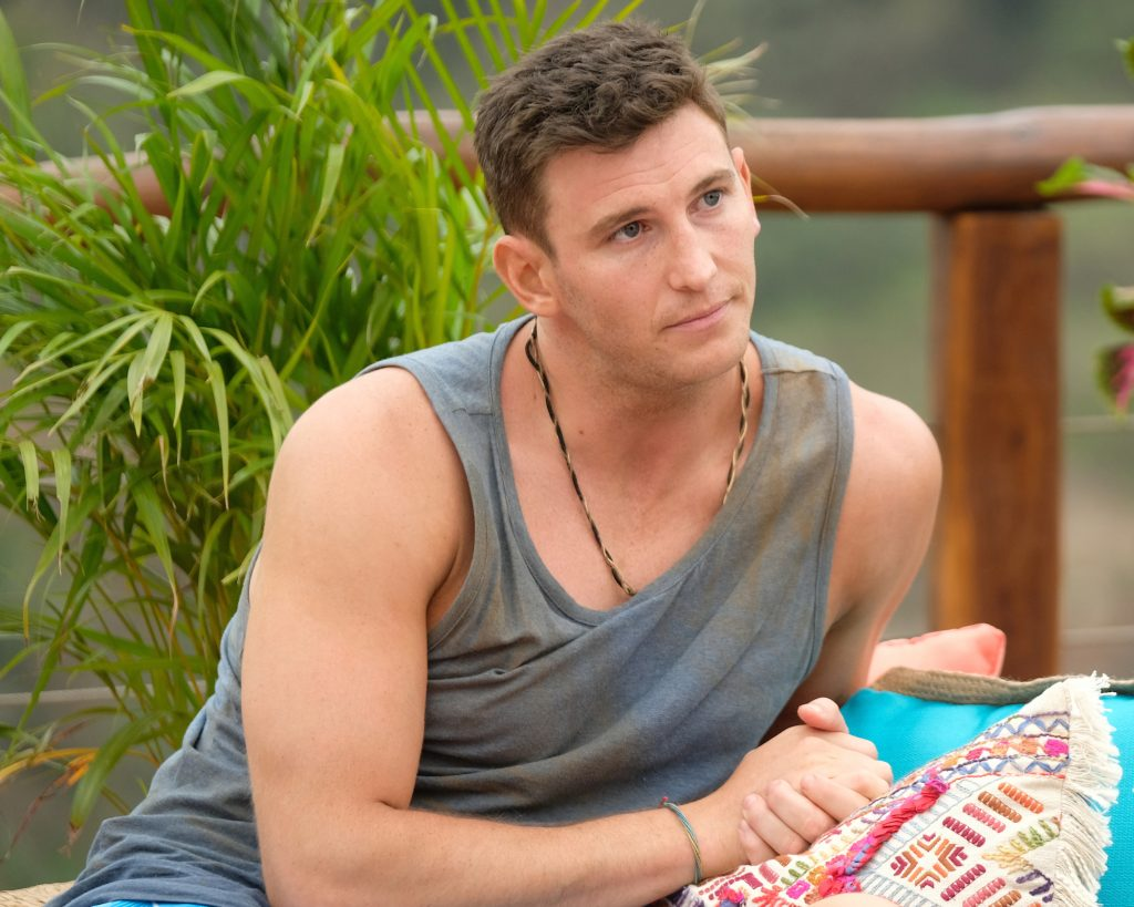 Blake Horstmann looking concerned on 'Bachelor in Paradise'