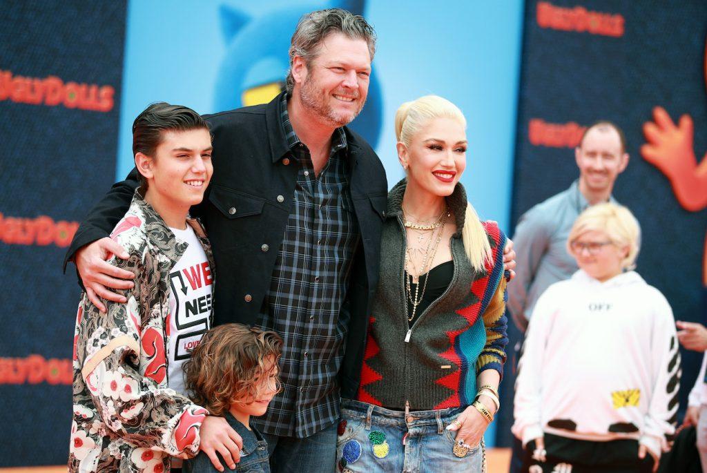 Blake Shelton, Gwen Stefani, and Stefani's sons