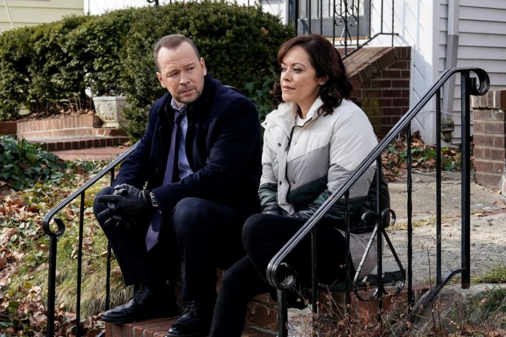 Danny Reagan (Donnie Wahlberg) and Maria Baez (Marisa Ramirez) on 'Blue Bloods'