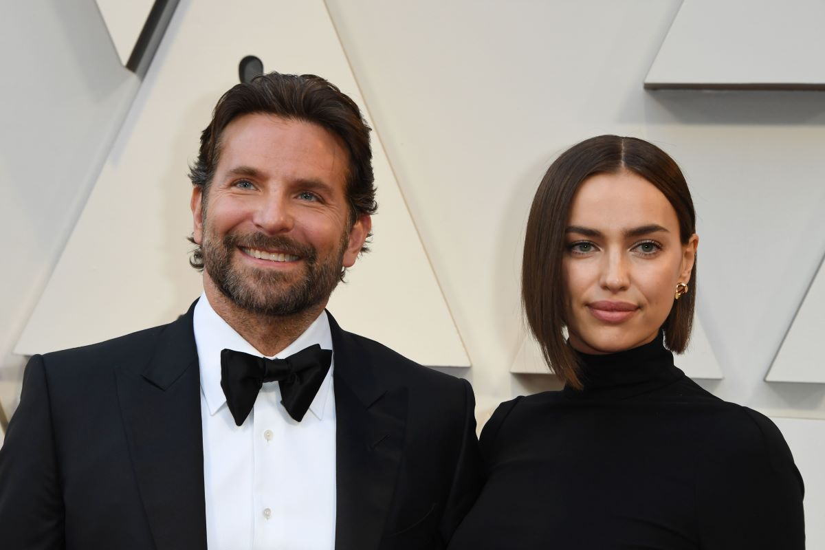 Bradley Cooper and Irina Shayk in black formal attire at 91st Annual Academy Awards at the Dolby Theatre in Hollywood, California