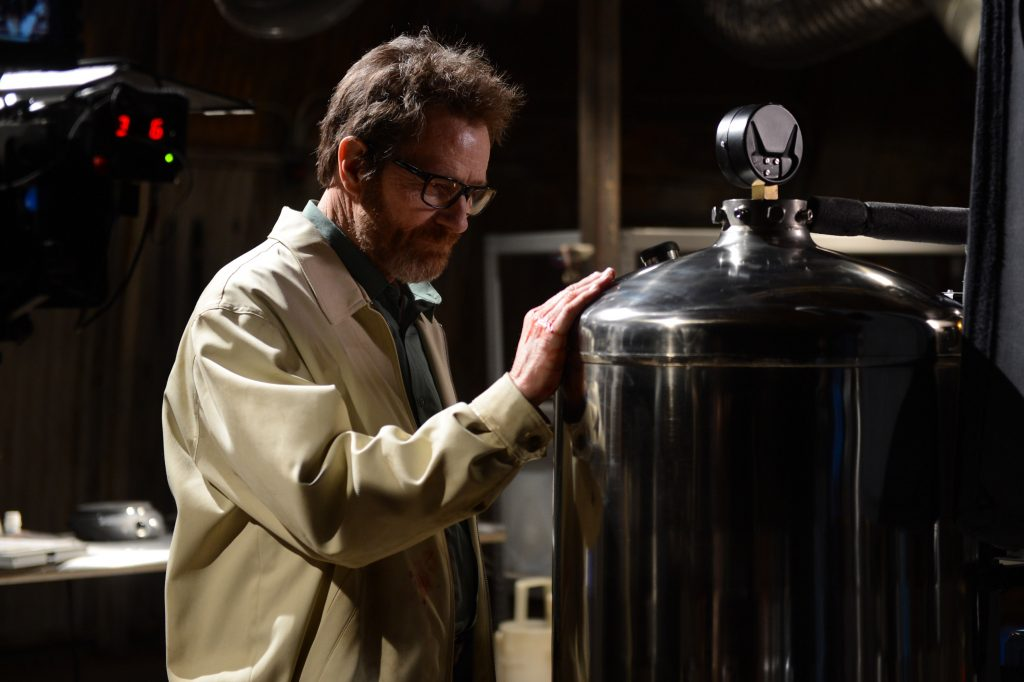 Breaking Bad series finale: Walter White touches meth equipment