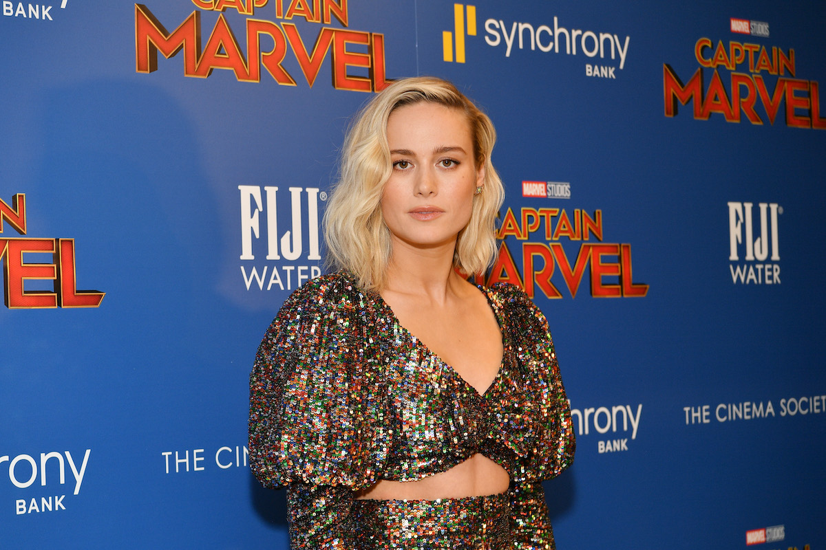 Brie Larson at a 'Captain Marvel' screening