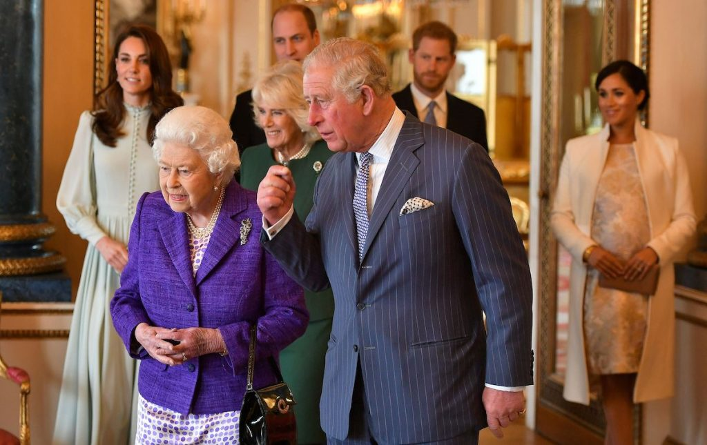 Prince Charles, Prince of Wales walks with Queen Elizabeth II, his wife Camilla, Duchess of Cornwall, and his sons and their wives, Prince William, Duke of Cambridge, Catherine, Duchess of Cambridge, Prince Harry, Duke of Sussex, and Meghan, Duchess of Sussex | Dominic Lipinski/POOL/AFP via Getty Images