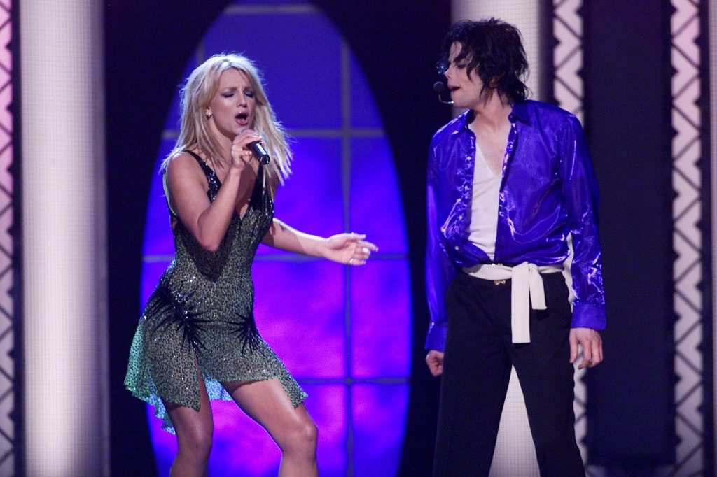 Britney Spears and Michael Jackson performing together at Madison Square Garden