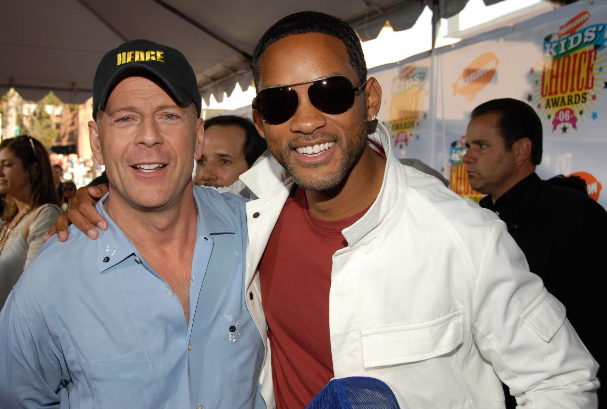 Bruce Willis and Will Smith together on the red carpet