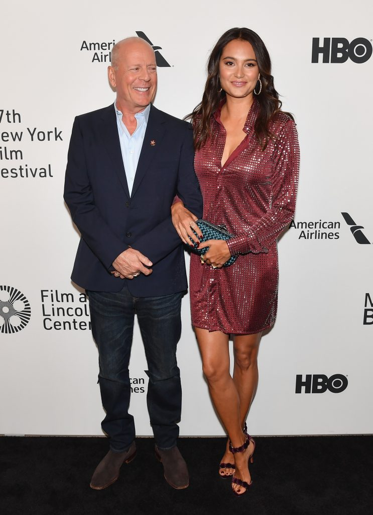 Bruce Willis and wife Emma Heming Willis pose arm in arm at premiere of Motherless Brooklyn' in 2019