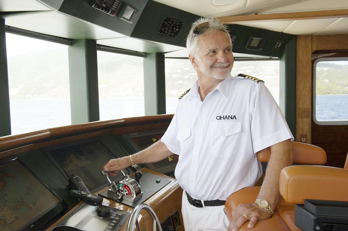 Captain Lee Rosbach in the bridge on 'Below Deck'