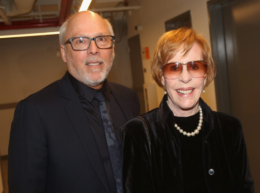 Carol Burnett and her husband, Brian Miller, pose together during night out on Broadway