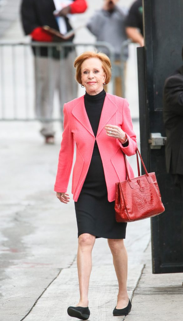 Carol Burnett arriving to set of 'Jimmy Kimmel Live' in 2018