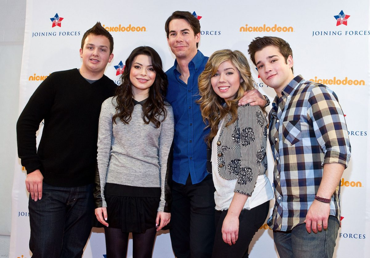 Jennette McCurdy with her 'iCarly' co-stars