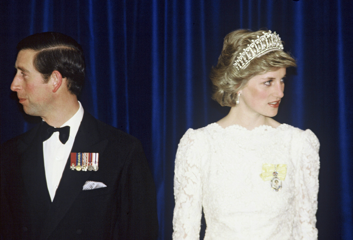 Prince Charles and Princess Diana attend a royal event