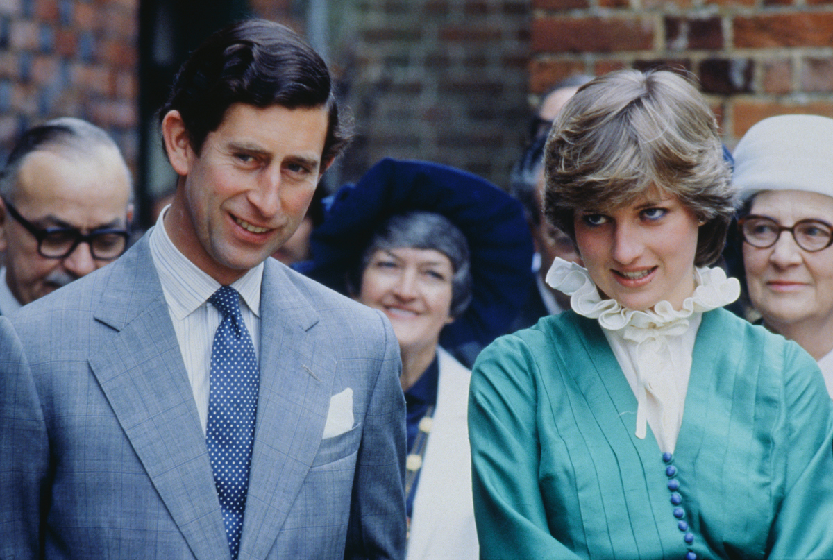 Prince Charles and Princess Diana at the opening of Mountbatten Exhibition at Broadlands