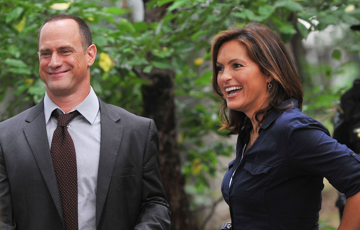 """Mariska Hargitay and Christopher Meloni first day filming on location for """"Law & Order: SVU"""" 12th season on the streets of Manhattan on July 15, 2010 in New York City."""