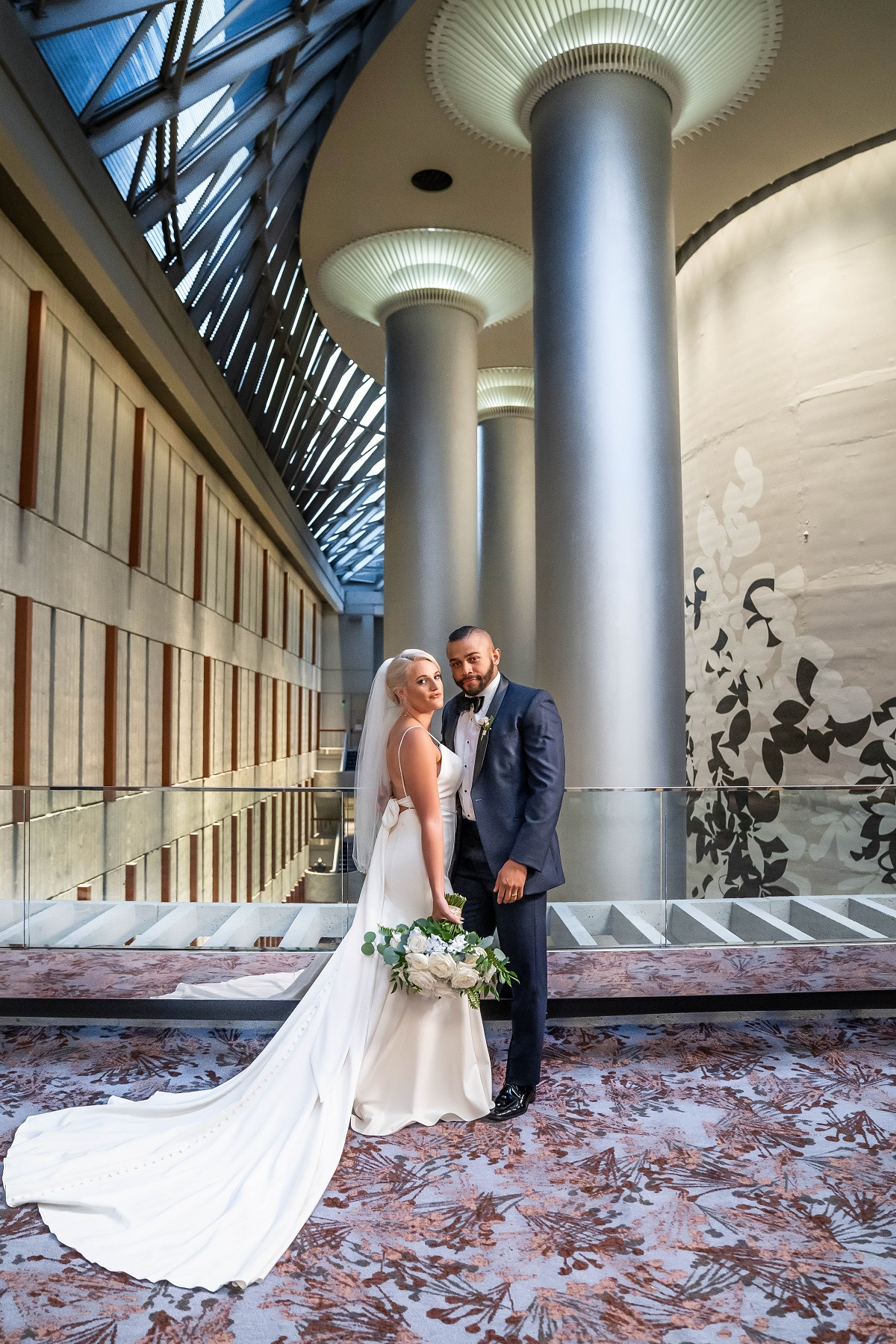 Clara Fergus and Ryan Oubre on their wedding day on 'Married at First Sight'