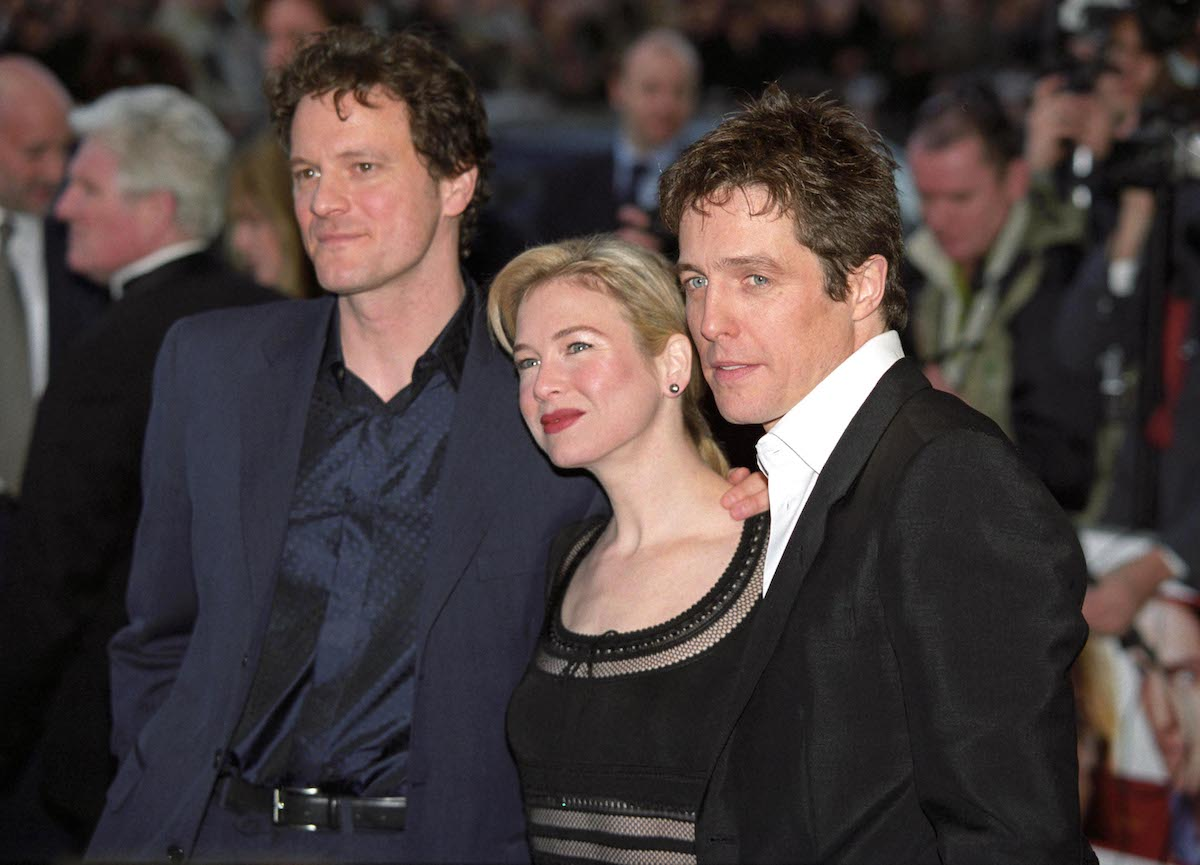 Colin Firth, Rene Zellweger and Hugh Grant at the 'Bridget Jones's Diary' premiere