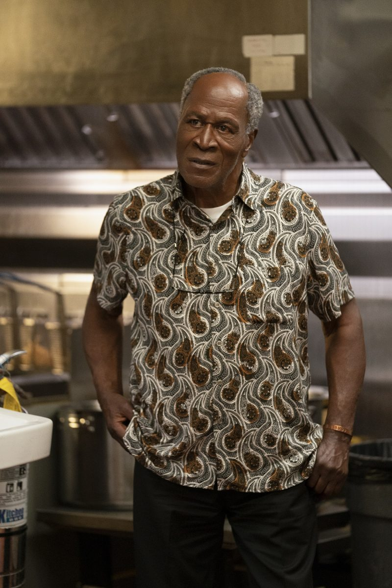 Coming 2 America star John Amos in the McDowell's kitchen