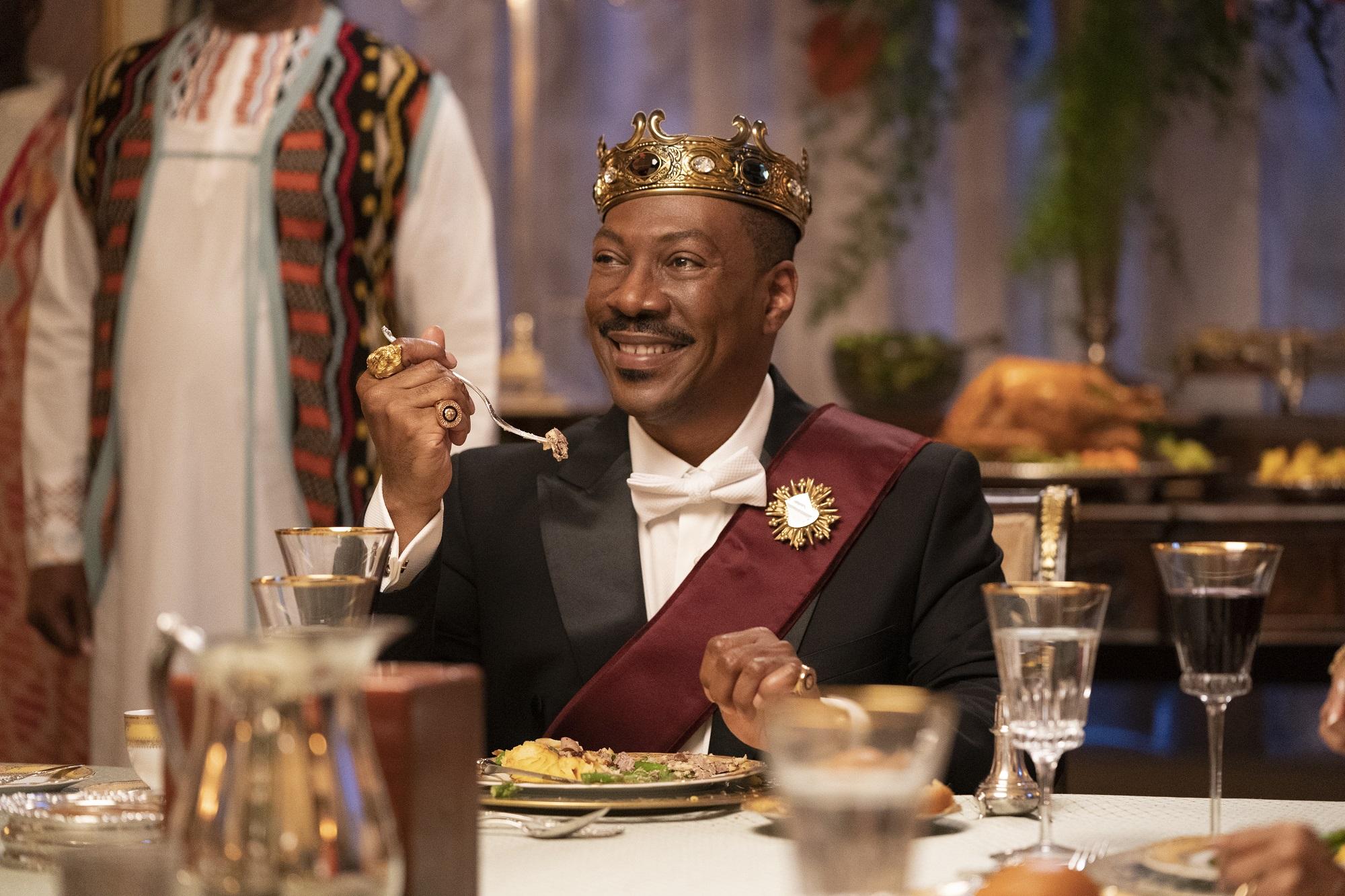 Eddie Murphy eats a royal dinner in Coming 2 America