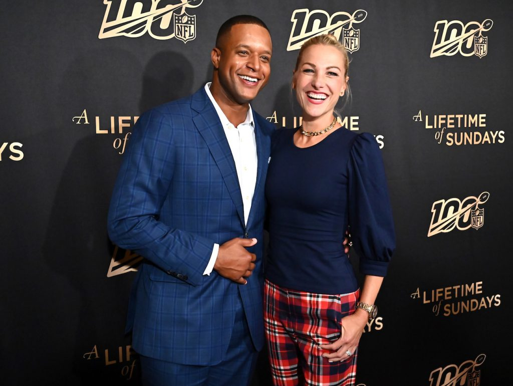 Craig Melvin of the 'Today Show' and Fox Sports reporter Lindsay Czarniak attend 'A Lifetime Of Sundays' New York Screening at The Paley Center for Media