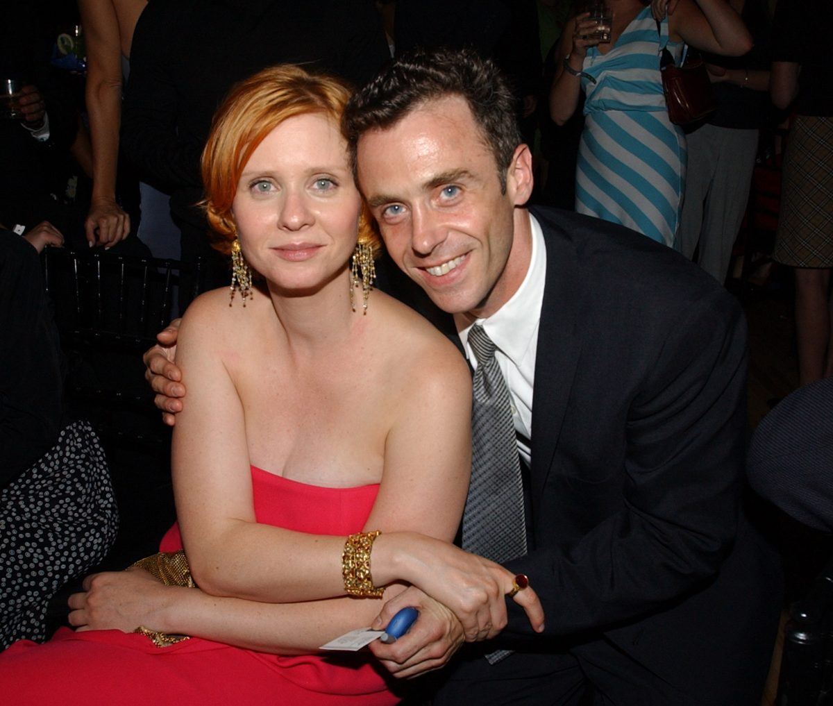 Cynthia Nixon and David Eigenberg together at the season 5 premiere of 'Sex and the City'