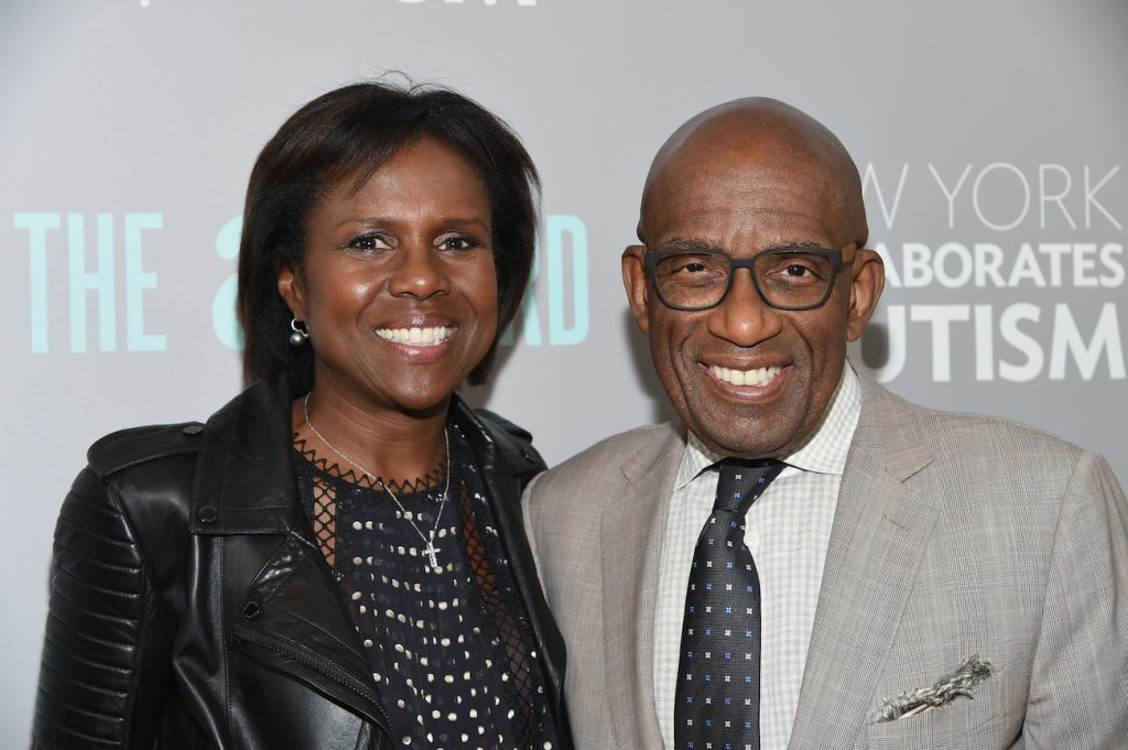 """'Today Show' star  Al Roker (R) and wife Deborah Roberts attend the """"The A Word"""" New York screening at Museum Of Arts And Design in New York City"""