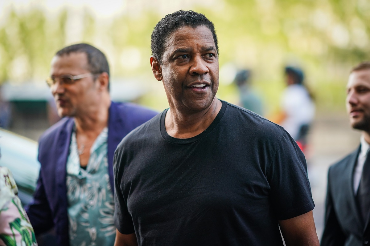 Denzel Washington arrives at Laperouse restaurant where a pre-wedding dinner for Zoe Kravitz and Karl Glusma was to be held on June 28, 2019 in Paris, France