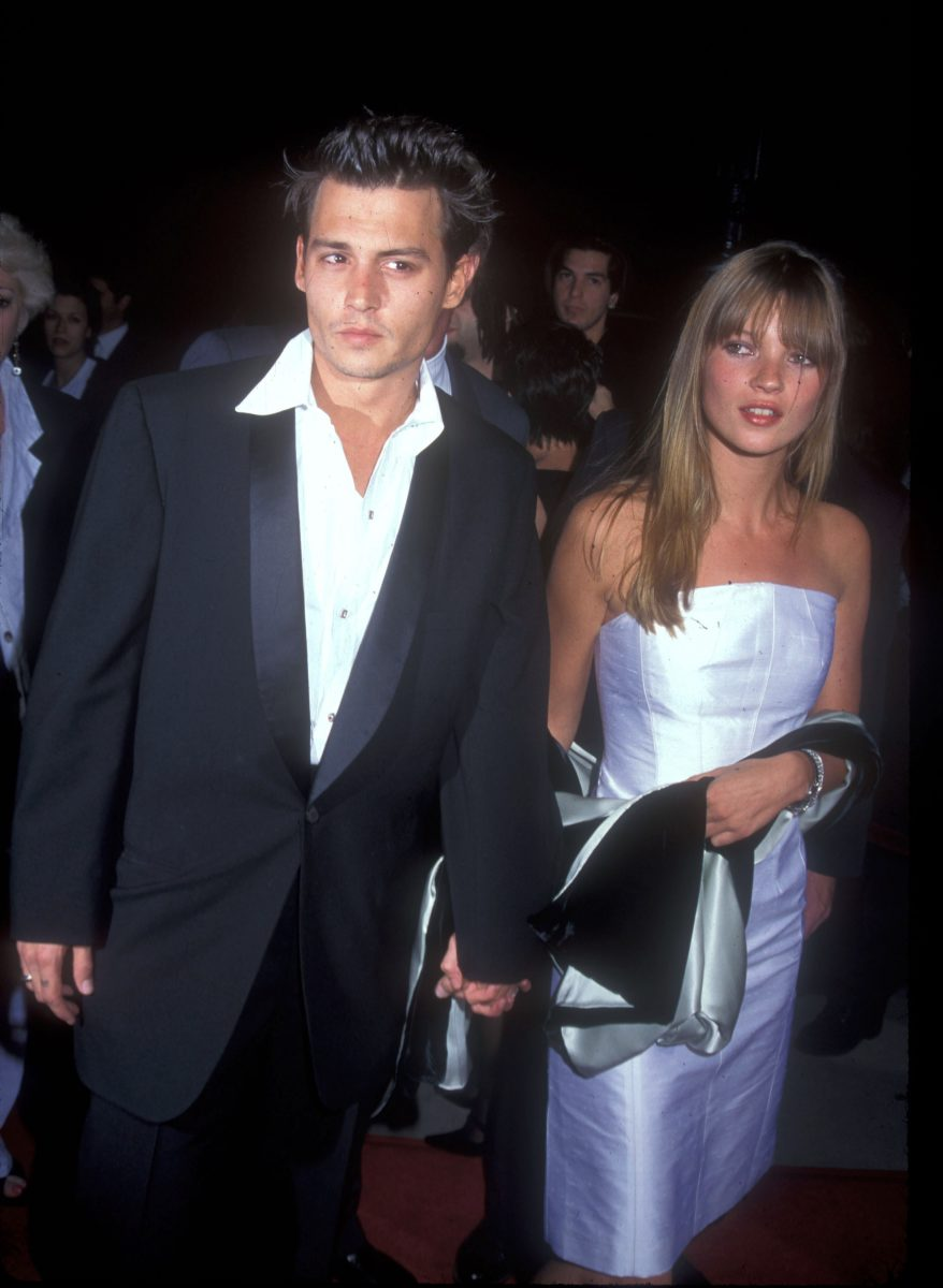 Johnny Depp & Kate Moss in 1995