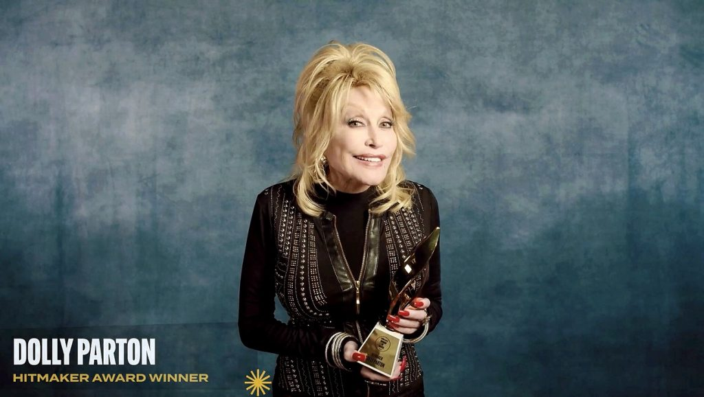 Dolly Parton at the 2020 Billboard Women in Music event