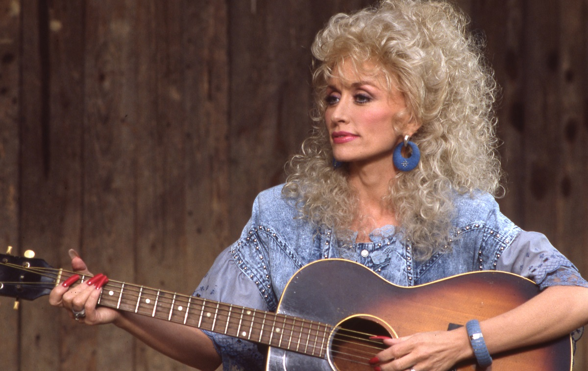 Dolly Parton singing on 'Dolly' in 1987