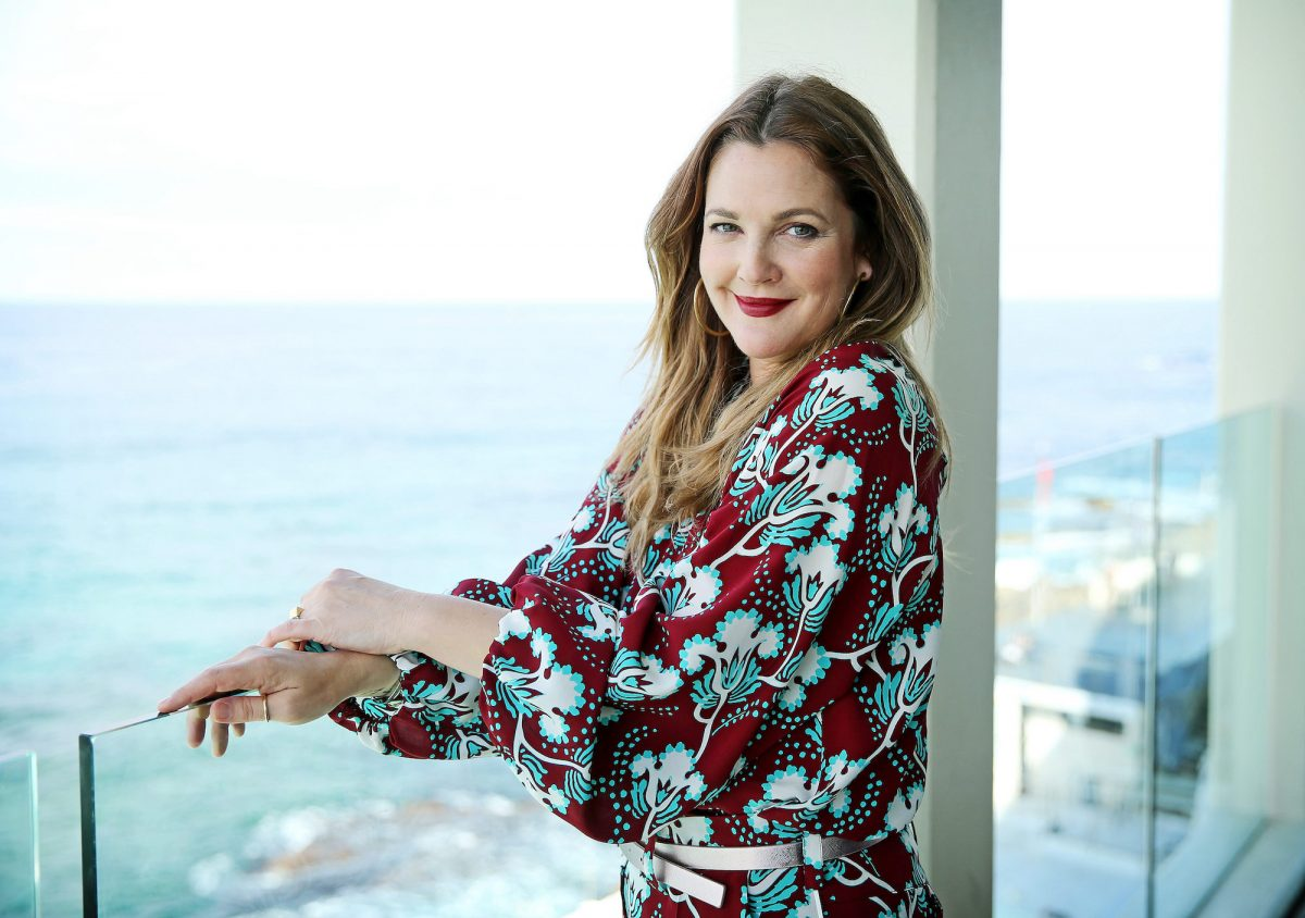 Drew Barrymore at the Flower Beauty Lunch