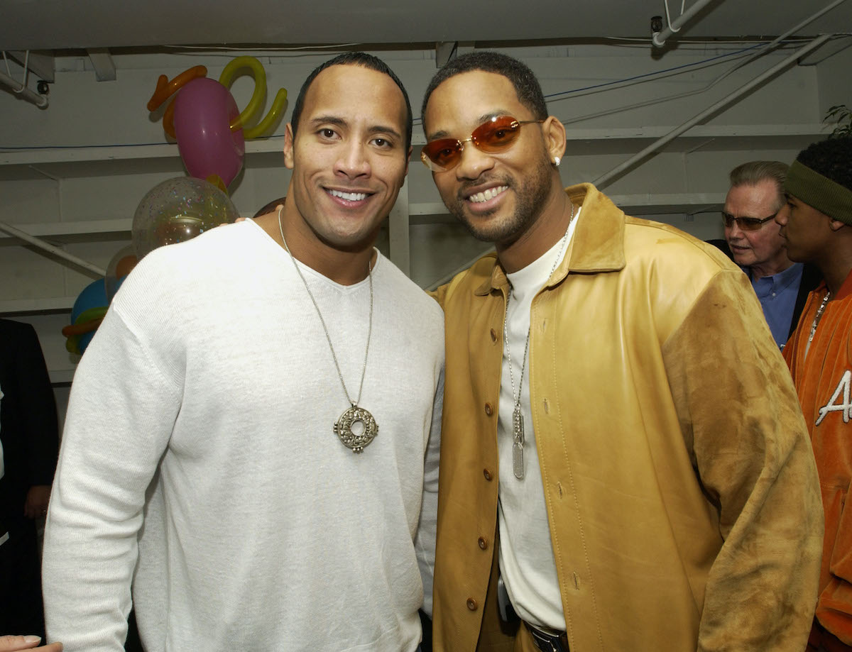 Dwayne Johnson and Will Smith at the Nickelodeon Kids Choice Awards | KMazur/WireImage