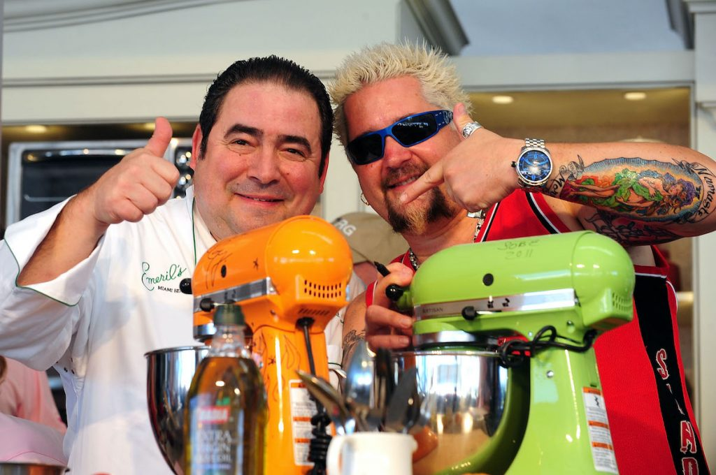Emeril Lagasse and Guy Fieri at the 2011 South Beach Food and Wine Festival